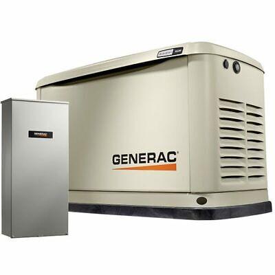 Generac Guardianreg 16kw Aluminum Standby Generator System 200a Service Di...