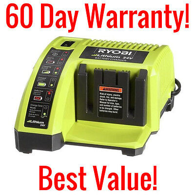 Ryobi Op140 24 Volt Lithium Ion Li Ion Battery Charger 24V 1 Hour Replacement