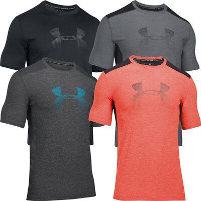 Under Armour HeatGear Fitted Raid Graphic T-Shirt Herren Sport Shirt 1298816