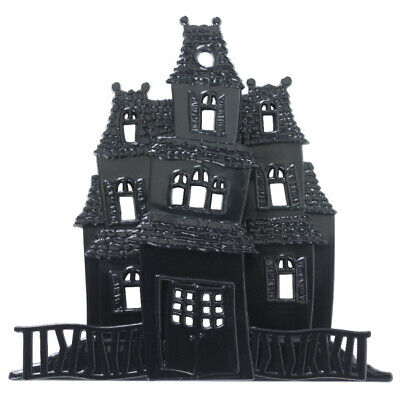 3D Haunted House Cake Topper Halloween Baking Frosting Decoration Spooky](D Halloween)
