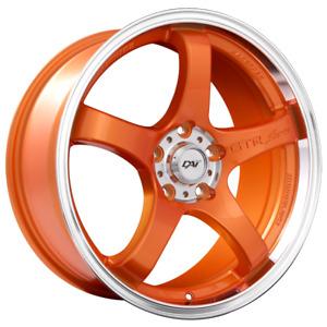 "Candy Tangerine Orange Rims 17"" x 7.5"" Bolt: 5x114.3"