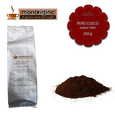 Caffè Arabica macinato fresco per moka Perù Cuzco HB 250 gr