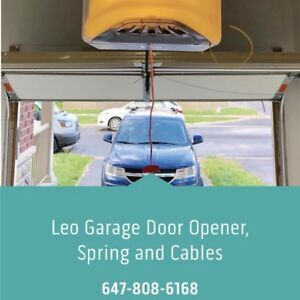 Save Event! Garage door opener, spring and cables, 647-808-6168