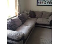 Dfs corner sofa chair and puff