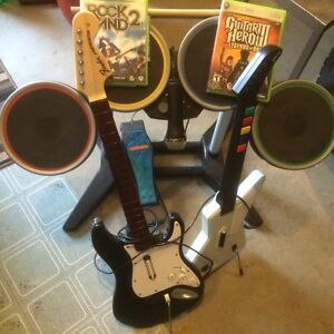 Xbox 360 Rock Band set