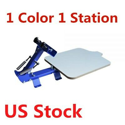 1 Color 1 Station T-shirt Silk Screen Printing Machine Printer - Us Stock