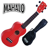Mahalo Ukulele Red Rainbow Series NEW WITH GIG BAG