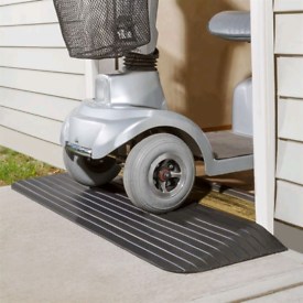 Rubber threshold wheelchairs access ramps