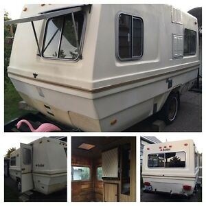 Rare [square] 16 ft 1980 boler trailer (gutted)