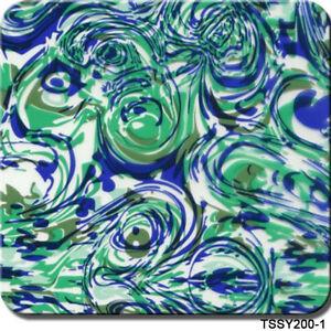 "Hydrographics Film Blue Swirls 20"" x 6.5'"