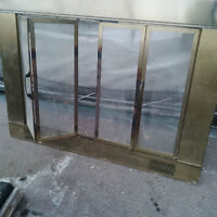 FIREPLACE DOOR GRILL PROTECTOR BRASS PORTE DE FOYER