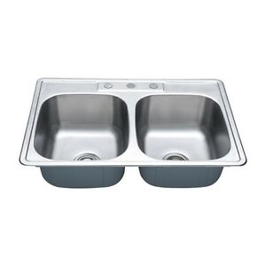Double Bowl Top Mount - Stainless Steel Sink London Ontario image 3