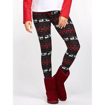 Casual Mid Waist  Christmas Print Skinny Women's Leggings - Womens Christmas Leggings