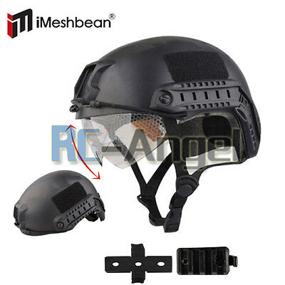 Military Tactical Gear Airsoft Paintball SWAT Protective FAST Helmet w/ Goggle