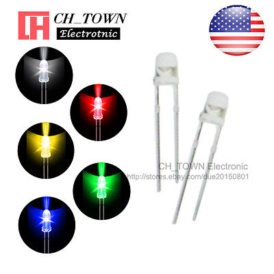 5kinds 100pcs 3mm Led Diodes Water Clear White Red Yellow Green Blue Mix Kits
