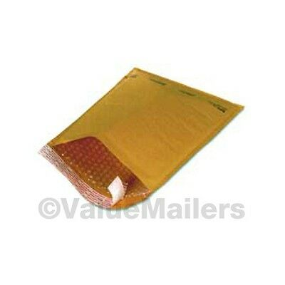 200 Quality 00 Kraft 5x10 Bubble Mailers Envelopes