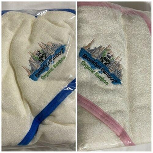 Brooklyn Bamboo Organic Baby Hooded Towel blue or pink new