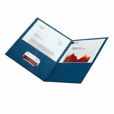 Office Depot Brand 2-pocket Textured Paper Folders Dark Blue Pack Of 25