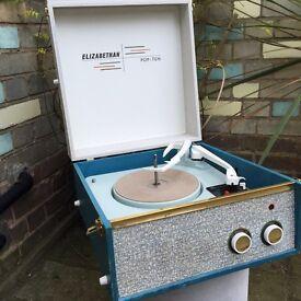 Vintage 'Elizabethan Pop 10' Record Player - Great Vintage Sound!!