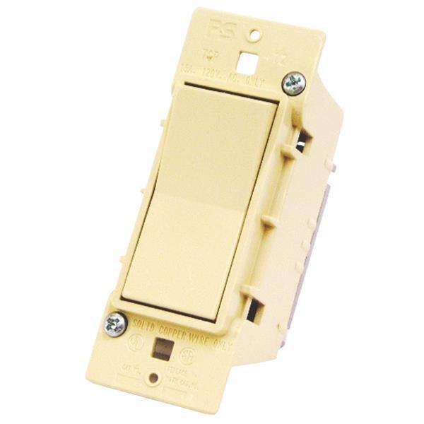 3 Pk U S Hardware Mobile Motor Home RV Ivory Single Electrical Switch E-100C