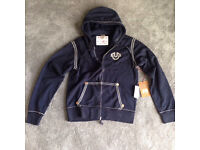 MENS LARGE NAVY TRUE RELIGION HOODY RRP £150 NOW £125 SAVE £25 BRAND NEW WITH TAGS!!