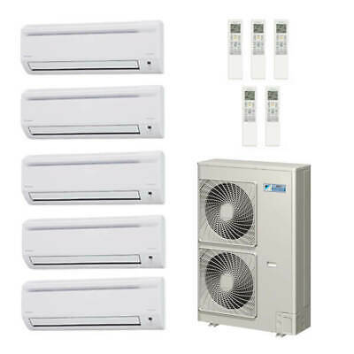 50,000 Btu 18.8 Seer Daikin 5-Zone Mini Split Heat Pump Syst