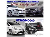 UBER CAR PCO LICENSED HIRE/RENT UBER READY IN LONDON OR OUTISDE OF LONDON ALL CARS AVAILABLE