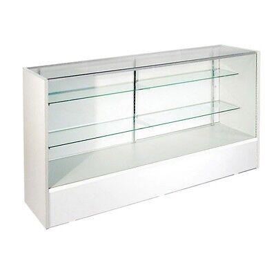 Itemsc5w 5 Retail Glass Display Case Full Vision White Showcase Will Ship