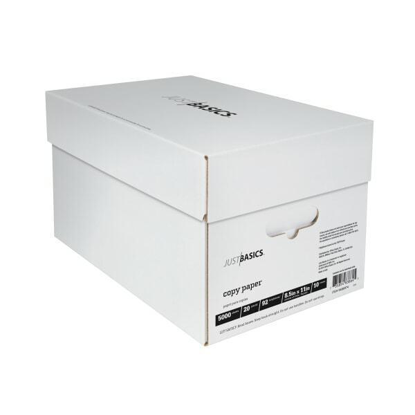 Just Basics Copy Paper, Letter, 92B, 20 Lb, White, 500-Sheets, 10-Ream