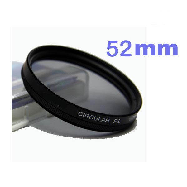 Filtre Polarisant Circulaire Ø52mm CPL pour objectif Nikon, Canon, Sony Nex Fuji