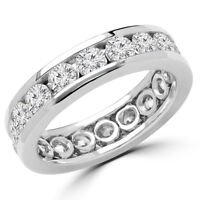 Superb Diamond Wedding Ring 3.30CTW Bague de marriage éternité