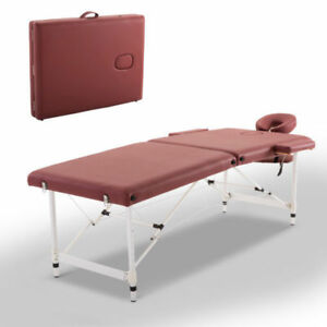 NB- Tables de Massage Pliable - Rouge Brique