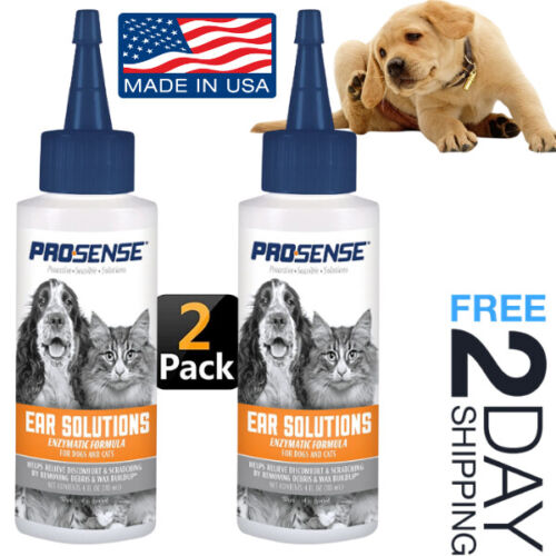 Dog Ear Cleanser Itchy Ears Cleaner Itching Relief Irritations Enzymatic Drops