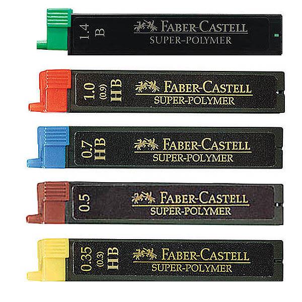 12 Stück Faber-Castell Druckbleistift Feinminen 0,35mm 0,5mm 0,7mm 1,0mm 1,4mm