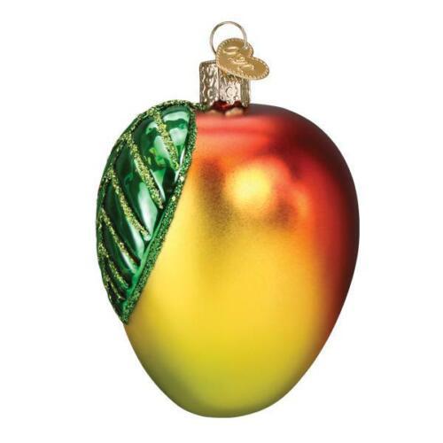 Old World Christmas MANGO (28131)N Glass Ornament w/ OWC Box