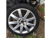 "Audi A4 18"" alloy wheel with tyre 235/40/18.a6"