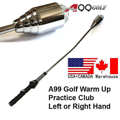(A99 golf Swing Trainer Stick Warm up Practice Club for right handed golfer)