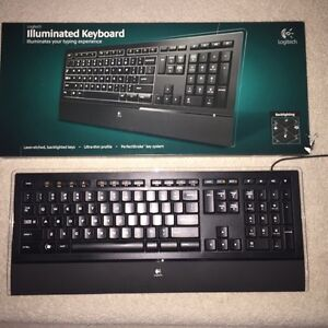 Logitech illuminated keyboard for sale