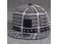 Stylish Square Labelling Embellished Stripe and Chevron Pattern