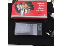 Universal battery tester and charger - boxed - mains powered