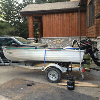 Great small fishing boat with Trailer