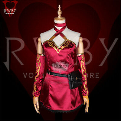 Anime RWBY Cinder Fall Cosplay Costume Women's Uniform Dress Shorts Full Sets