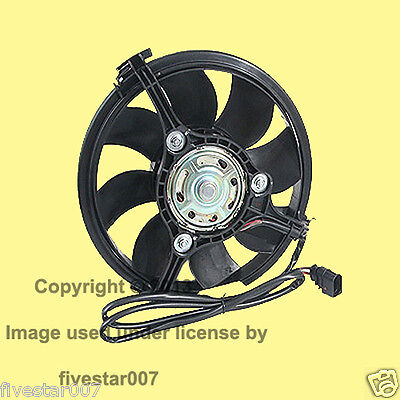 _Radiator Auxiliary Engine Cooling Aux Fan_nEw_for Audi Volkswagen_w/ Oval Plug