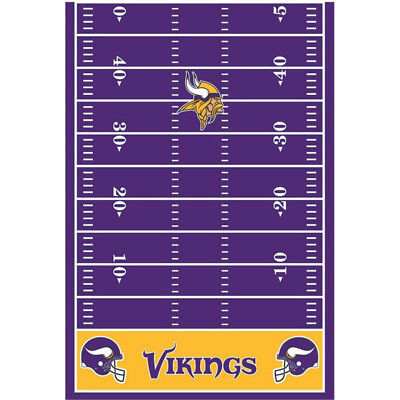 Minnesota Vikings Party Supplies (Minnesota Vikings Tablecover NFL 54x96 FREE First Class Shipping -)