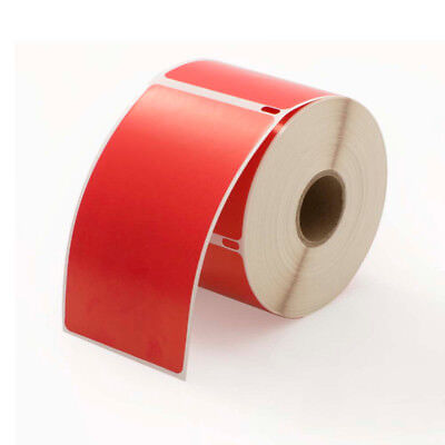 1 Roll Of 300 Red Shipping Labels For Dymo Labelwriters 30256