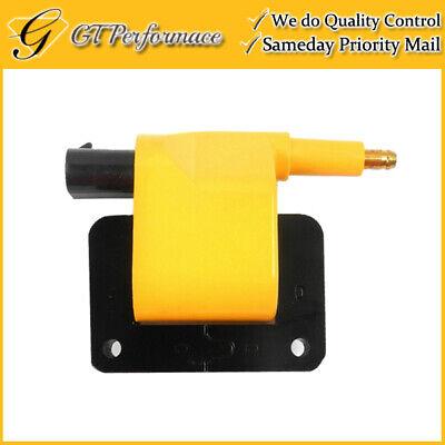 OEM Quality Ignition Coil for Chrysler Dodge Jeep Plymouth L4/ V6/ V8 Yellow  (Dodge Spirit Ignition Coil)