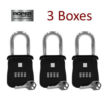 Lot Of 3 Key Lock Box For Home Security Welfare Check Medical Emergency