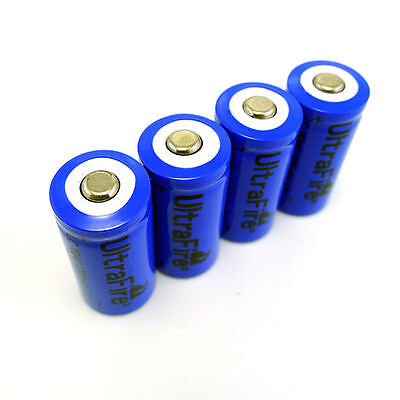4pcs 1200mAh 16340 CR123A LR123A 3.7V Rechargeable Li-Ion Battery Batteries 4 New 1200mah Batteries