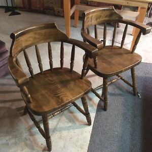 Hardwood chairs