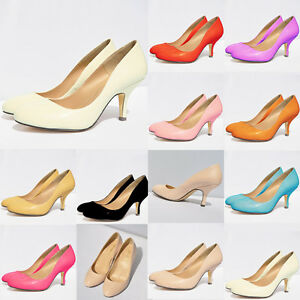 WOMENS-LADIES-LOW-MID-HEELS-PUMPS-CONCEALED-PLATFORM-WORK-COURT-SHOES-SIZE-2-9